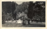Marching band on its way to the second annual May Day celebrations in Kentfield, California, May,...
