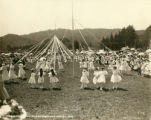 May pole dance, Kentfield May Day Celebration, 1909 [photograph]