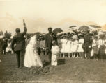Groundbreaking ceremony for the Tamalpais Centre Clubhouse, Kentfield May Day Celebration, 1909...