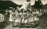 Contingent of schoolchildren en route to the Kentfield May Day Celebration, circa 1911...