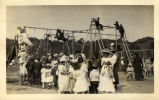 Children using the playground at the Tamalpais Centre during May Day.  Kentfield, California, May,...