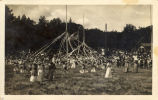 School children wrap may poles during the second annual May Day celebrations in Kentfield,...
